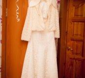 """Кружевное свадебное платье,фасон""""рыбка"""""""