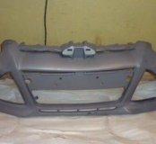 Бампер Форд Фокус 3 (с омывателями)