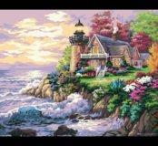 Картина по номерам маяк и море
