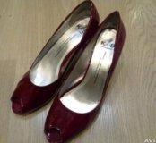 Кожаные туфли 39-40р