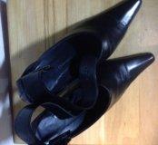 Туфли натур.кожа чёрные