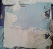 Комплект на выписку (2 шт.) Белый и голубой