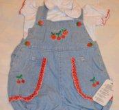НОВЫЙ летний костюмчик для девочки 74 размер