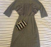 Платье с натуральным шелком