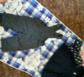 Курточка и комбинизончик и шапочка.на рост 80см