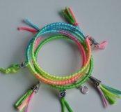 Яркие летние браслеты-кольца на заказ