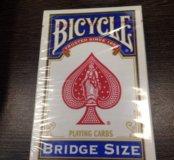 Игральные карты Bridge size blue