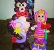 Фигуры и букеты из шаров