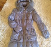 Зимняя женская удлинённая куртка размер 42-44