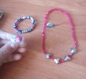 1 ожерелье ,2 кольцаи 1 турецкий браслет.