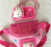 Сумочка на пояс и для телефона Hello Kitty