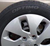 Колеса новые Kia Rio, Hyundai Solaris с колпаками