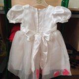 Платье 86 размер с лепестками роз
