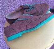 Женские туфли 38,5 размера ,цвет -коричневый