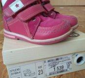 Ботинки для девочки(кожа,текстиль)