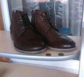 Мужские ботинки нат.кожа и мех.Новые.