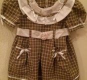 Платье на малышку почти новое 30 р-р