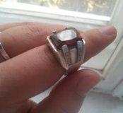 Мужское кольцо серебряное