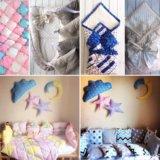 Бортики, лоскутное одеяло, кокон, постельное белье