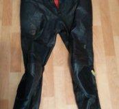 Кожанные байкерские штаны