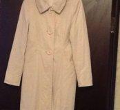 Пальто легкое белое