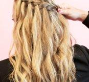 Плетение косичек ,кудри или выпрямление волос