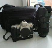 Pentax MZ-7 28-200 (пленочный) + сумка и штатив
