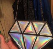 Сумка в форме бриллианта