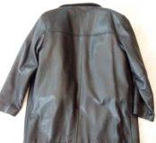 Куртка плащ, кожа, зима осень, б/у, кожа толстая