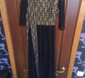 Платье в пол с длинным плясом