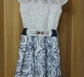 Нарядное платье на девочку,10-11-12 лет