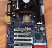 Материнская плата gigabyte + процессор