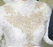 Платье закрытое свадебное