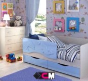 """Детская кроватка """"Дельфин"""" 1,6"""
