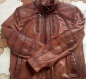 Кожаная куртка 52-54р