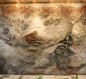 Художественная роспись стен. Барельеф