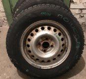 Продам колеса шины nokian r14 185/70