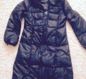 Пуховик зимний( длинное пальто)
