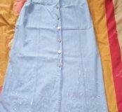 Платье летнее джинсовое.