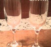 Продаются два бокала, украшенны стразами