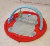 Детский мягкий коврик с игрушкой