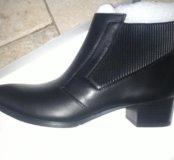 Ботинки женские деми кожаные новые
