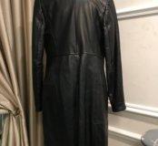 Кожаное пальто на синтепоне, торг