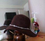 Шляпа фетр нат.камень р 57-58