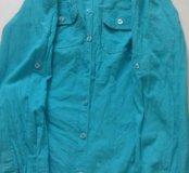 Рубашка бирюзовая хб