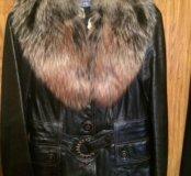 Кожаная куртка с мехом (натуральная кожа)