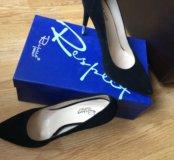Туфли женские лодочки велюр