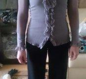 Блузка из жатого материала