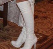 Белые ботфорты