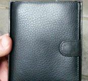 Мужской кошелек, чехол для паспорта, визитница.